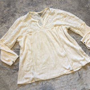 Lucky Brand Ivory Blouse